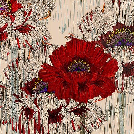 Poppy Fields by Alma Lee