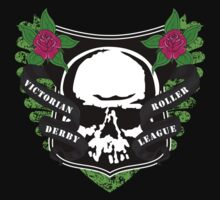Victoria Roller Derby League Skull - Green Kids Clothes