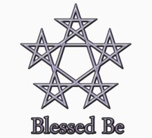 Blessed Be Pagan Wiccan Goddess Tee Stickers by DamaskMoonArt