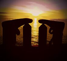 Surfers Silhouette by CHINOIMAGES