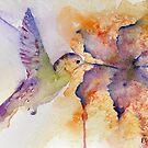 Purple Hummingbird by Ruth Nolan
