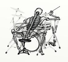 Skeleton Drummer  by david michael  schmidt