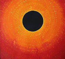 Black Hole Sun original painting by CrowRisingMedia