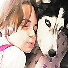 Grace and Shadow in Watercolor by ArtChances