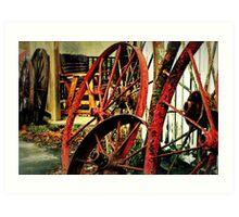 Wagon Wheels of Monterey Art Print