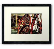 Wagon Wheels of Monterey Framed Print