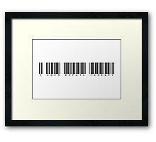 1 L0V3 R3741L 7H3R4PY Framed Print