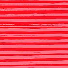 Stripes - Pink and Red by Amy Walters