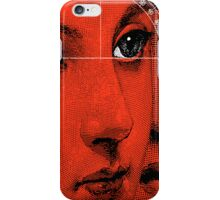 Lady Faces (Red) iPhone Case/Skin
