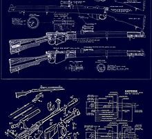 Full size, highly detailed blueprint of Lee Enfield .303 by BushrangerArms