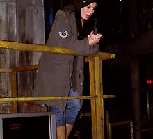 Eve Myles (Gwen Cooper) in the Torchwood Hub by simonbreeze