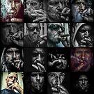 16 Faces of a S M O K E R by makbet666