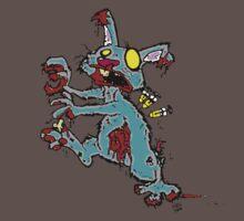 zombie lab rabbit  by hypnoticcat