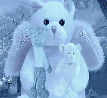 ?????HUGS,A KISS AND AFFECTION FROM A BEARY SPECIAL ANGEL CARD/PICTURE VERSION TWO????? by ✿✿ Bonita ✿✿ ђєℓℓσ