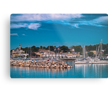 Summertime Marina in Port Metal Print