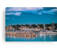 Summertime Marina in Port Canvas Print