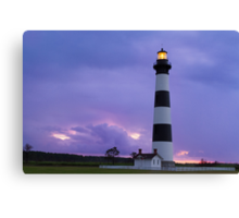 Lighthouse at Dawn - Bodie Island Light in NC Canvas Print