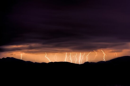 High Desert Lightning Strikes I by HDTaylor
