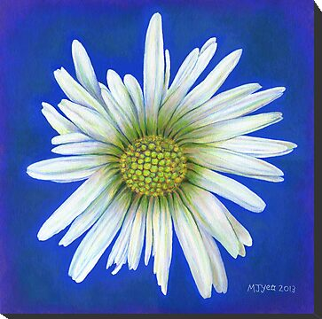 Daisy botanical acrylic painting for sale