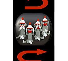 ☝ ☞ THE THREE MONKEYS PLUS ONE,MIZARU,MIKAZARU,MAZARU,& SHIZARU THE GOLDEN RULE IPHONE CASE ☝ ☞ by ✿✿ Bonita ✿✿ ђєℓℓσ