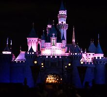 Disney Castle at Night by FangFeatures