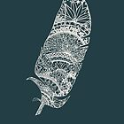 Feather Paper-Cut  by thethinks
