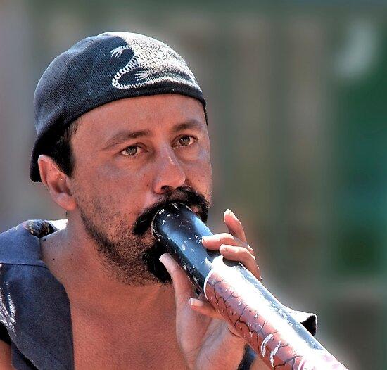 Didgeridooer by phil decocco