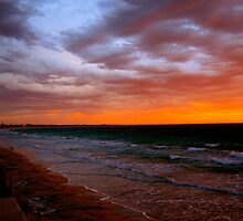 Stormy Australian Sunset by Mark  Nangle