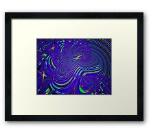Sliding Phosphenes- Psychedelic Fractal Abstract Framed Print
