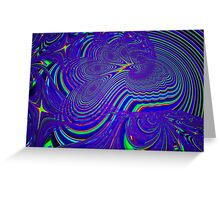 Sliding Phosphenes- Psychedelic Fractal Abstract Greeting Card