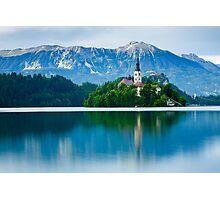 Lake Bled Island church Photographic Print