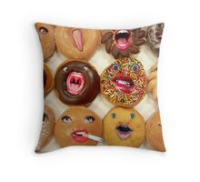 Freaking Donuts Throw Pillow