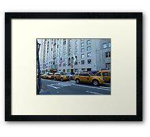 NYC Taxis Framed Print