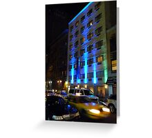 NYC, Manhattan, Taxi Greeting Card