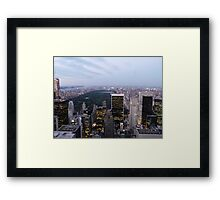 NYC Central Park View at Dusk Framed Print