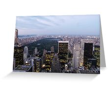 NYC Central Park View at Dusk Greeting Card