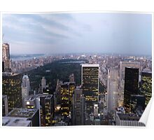 NYC Central Park View at Dusk Poster