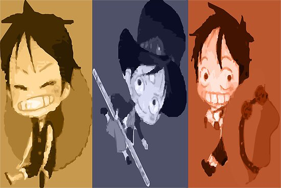 Luffy, Sabo and Ace by Anuktoy