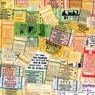 Classic Rock Concert Ticket Stubs by pixelman