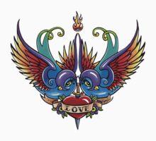 Eternal Love Swallow Tattoo by Myka Jelina