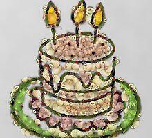 Fruit & Vegetable Birthday Cake by vexmellon