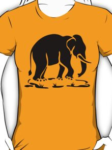 Asian Elephants Ahead / Thai Elephant Trekking Traffic Sign T-Shirt