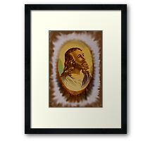 Jesus From An Estate Sale Framed Print