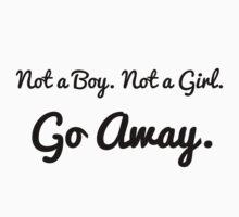 Not a Boy. Not a Girl. Go Away. by Lee Cygan