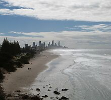 Beach View of Surfers Paradise by FangFeatures