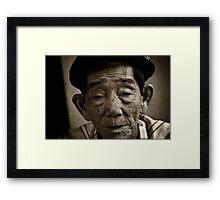 Vietnam - Ho Chi Minh City - Old Man Street Artist Framed Print