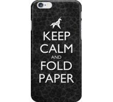 Keep Calm and Fold Paper - Unicorn / Snakeskin iPhone Case/Skin