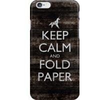 Keep Calm and Fold Paper - Unicorn / Metal iPhone Case/Skin
