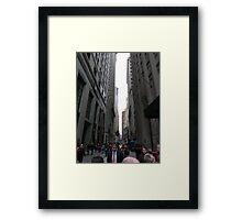 Wall Street, NYC Framed Print