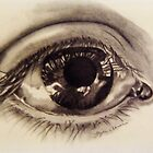 Cool realistic eye drawing by linwatchorn